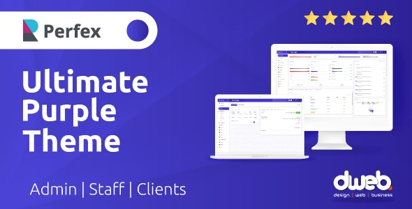 Ultimate Purple Theme - Perfex Theme CRM - CodeCanyon Item for Sale