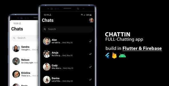 Chattin : Flutter & Firebase Realtime Android Chat App