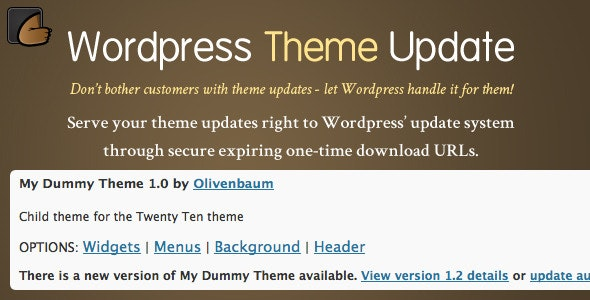 Wordpress Theme Update - CodeCanyon Item for Sale