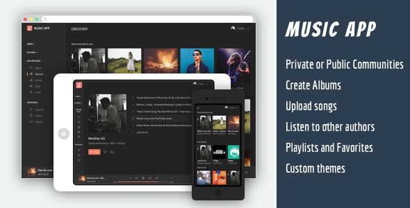 Music Cloud Community - Share your songs with the world - CodeCanyon Item for Sale