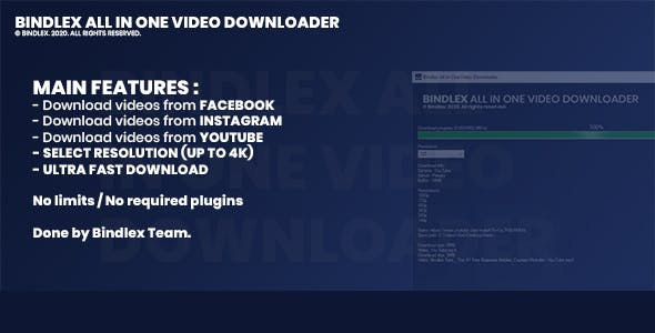 Bindlex All In One Video Downloader