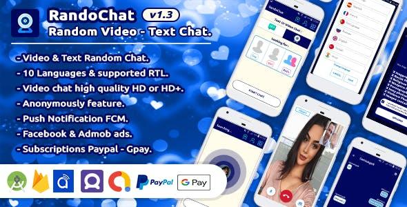 RandoChat - Dating App - Random Text - Video Chat, Anonymous Chat v1.3