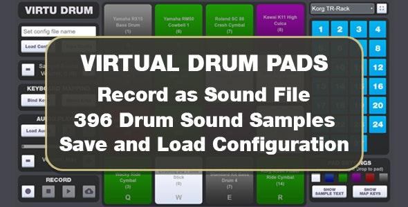 Virtu Drum Pads - CodeCanyon Item for Sale