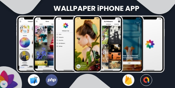 Wallpaper - iPhone App with Admin Panel - CodeCanyon Item for Sale