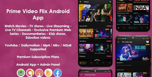 Prime Video Flix App: Movies - Shows - Live Streaming - TV - Web Series - Premium Subscription Plan - CodeCanyon Item for Sale
