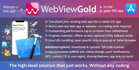 WebViewGold for iOS – WebView URL/HTML to iOS app + Push, URL ...