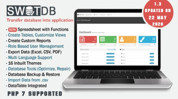 SWOT DB - CRUD Generator, Database Management & Spreadsheet App - CodeCanyon Item for Sale
