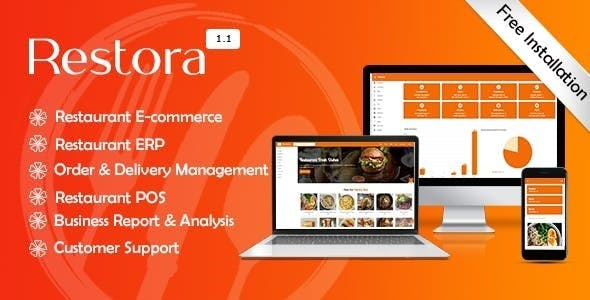 Restora - Restaurant Management System + Restaurant E-commerce