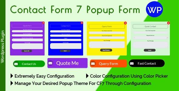 Contact Form 7 Popup Form