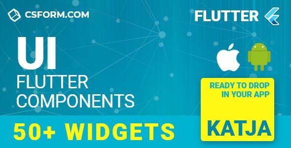 Katja | Flutter UI Theme / Template App | Components, Widgets & Starter App