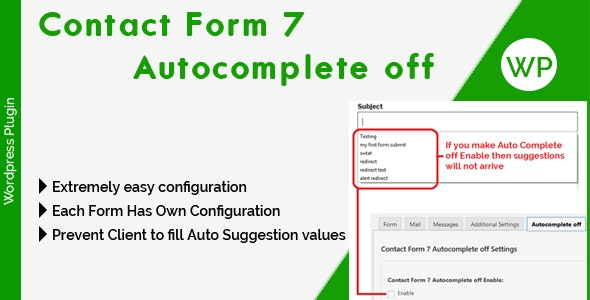 Contact Form 7 Autocomplete off - CodeCanyon Item for Sale