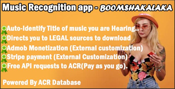 Music Title identification and recognition app - BoomShakalaka