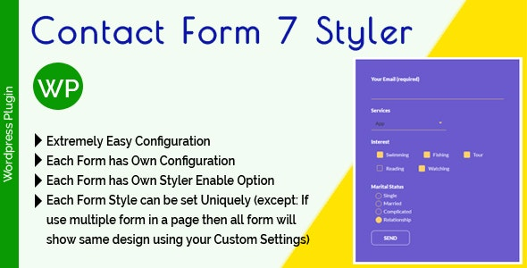 Contact Form 7 Styler - Make Form Stylish Using Custom Design - CodeCanyon Item for Sale