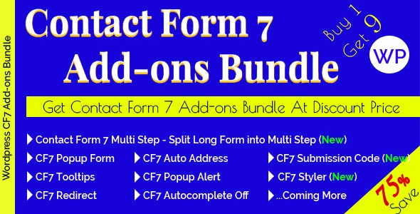 Contact Form 7 Add-ons Bundle - CodeCanyon Item for Sale