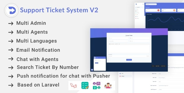 Support Ticket System V2 - CodeCanyon Item for Sale