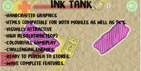 Ink Tank-Construct 2 (Capx + HTML5)