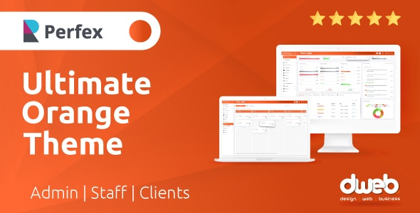 Ultimate Orange Theme - Perfex CRM - CodeCanyon Item for Sale