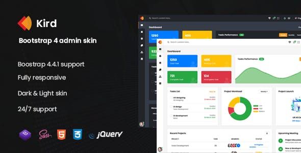 Kird - Bootstrap 4 Admin Skin