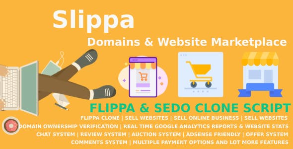 Slippa - Domains & Website Marketplace PHP Script