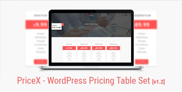 PriceX | Material Design WordPress Pricing Table Set Plugin - CodeCanyon Item for Sale