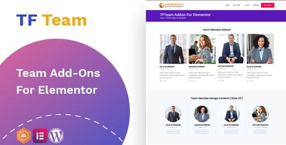 Team Member addon - widget for Elementor - CodeCanyon Item for Sale