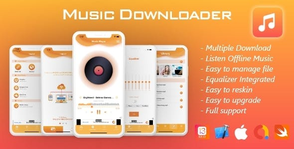 Music Downloader, Offline Music iOS 13+, with Admob (Special Edition)