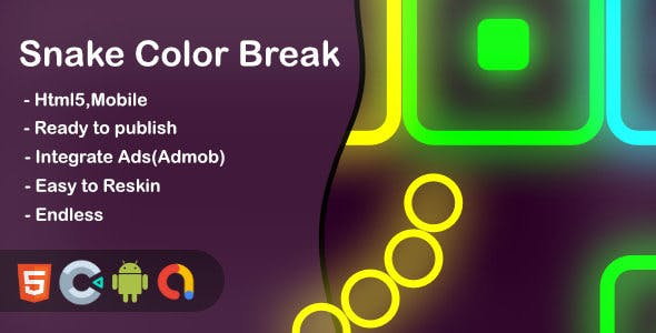 Snake Color Break - Html5 Game and Mobile ( Contruct 3)