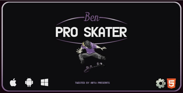 Ben Pro Skater   HTML5 Construct Game - CodeCanyon Item for Sale