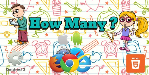 How Many? - HTML5 - Educational Game (.Capx)