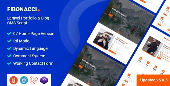 Fibonacci - Laravel Portfolio & Blog CMS Script