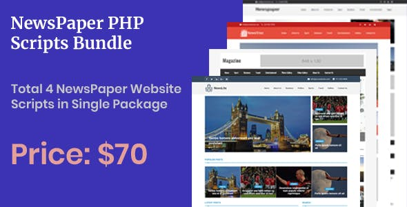 Newspaper PHP Scripts - Bundle