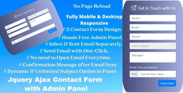 Ajax Contact Us Form with Admin Panel - CodeCanyon Item for Sale