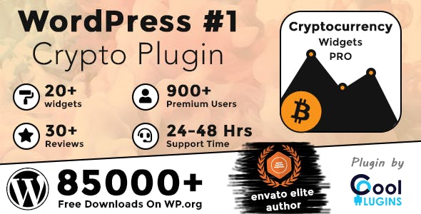 Cryptocurrency Widgets Pro - WordPress Crypto Plugin