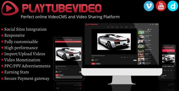 PlayTubeVideo - The Perfect Online REACT Video CMS and Video Sharing Platform