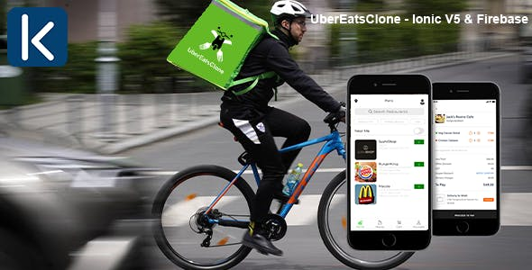 UberEatsClone - Ionic V5 & Firebase