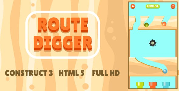 Route Digger - HTML5 Game (Construct3)