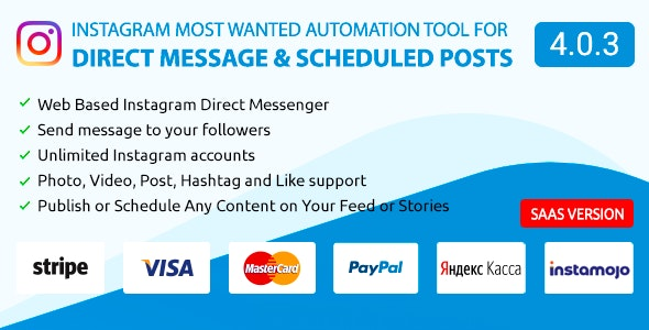 DM Pilot — Instagram Most Wanted Automation Tool for Direct Message & Scheduled Posts - CodeCanyon Item for Sale