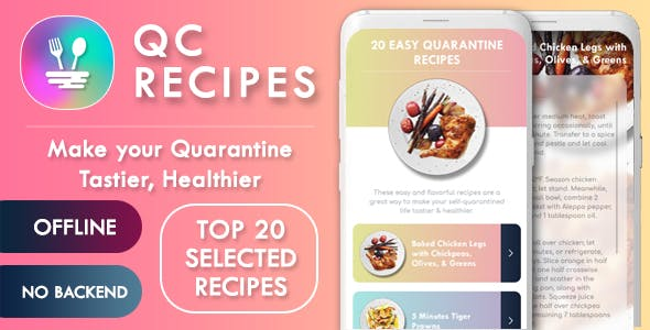 Recipe App Android - Selected Recipes - Offline, No Backend