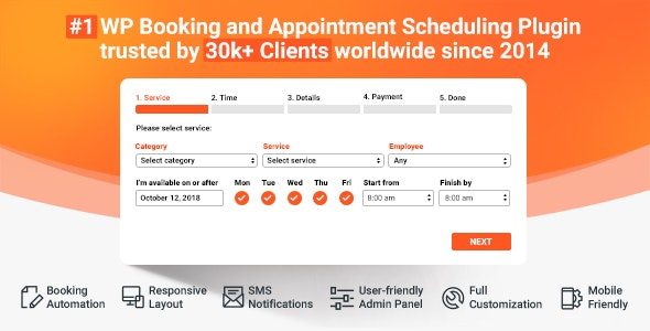 Bookly PRO –Appointment Booking and Scheduling Software System - CodeCanyon Item for Sale