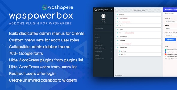 WPSPowerbox - Addon for WPShapere WordPress Admin Theme - CodeCanyon Item for Sale