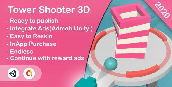 Tower Shooter 3D(Unity Game+Android+iOS+Admob)