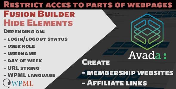 Avada Fusion Builder Hide Elements