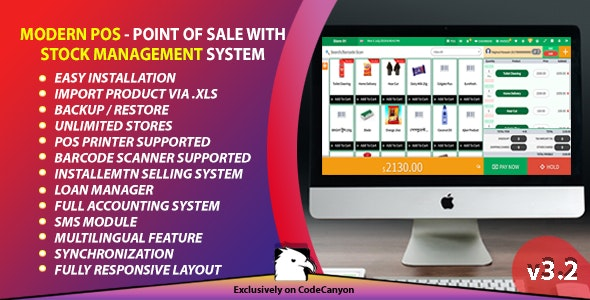 Modern POS - Point of Sale with Stock Management System - CodeCanyon Item for Sale