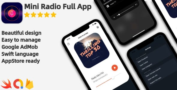 Radio Mini - Modern iOS Radio Application