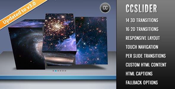 CCSlider - jQuery 3d Slideshow Plugin        Nulled