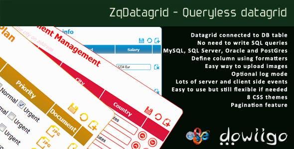 ZqDatagrid - Queryless datagrid