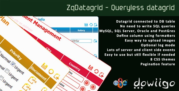 ZqDatagrid - Queryless datagrid - CodeCanyon Item for Sale