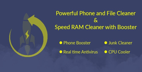 Powerful Phone and File Cleaner & Speed RAM Cleaner with Booster With Admob and Facebook Integration - CodeCanyon Item for Sale