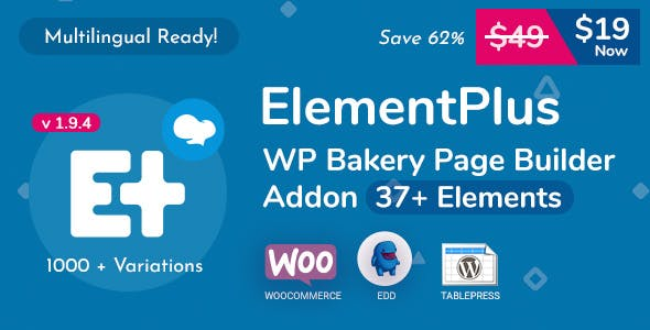 Element Plus - WPBakery Page Builder Addon (Formerly Visual Composer)