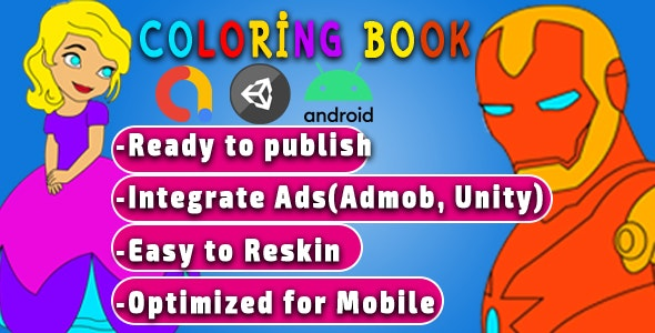 Coloring Book for android mobile games - CodeCanyon Item for Sale